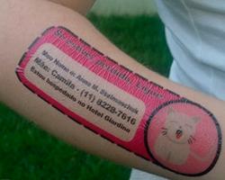 Tatuagem Temporária de Identificação Infantil - Loja Cacarecos da Cacá